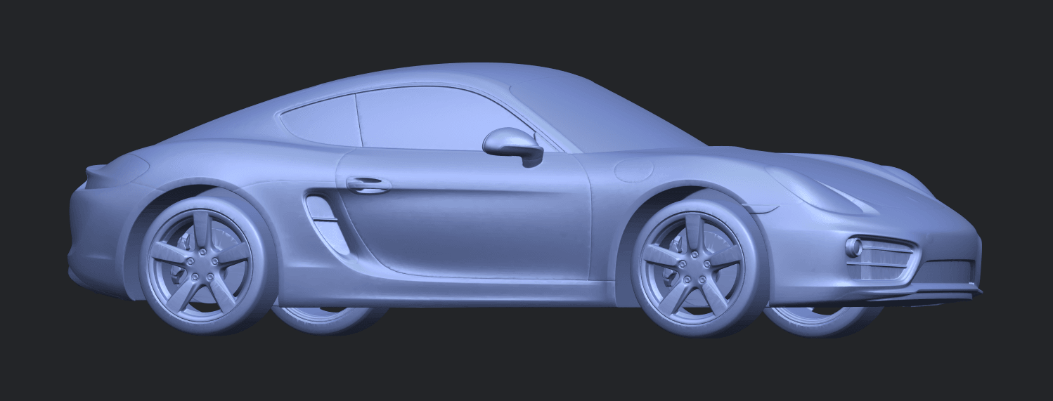 16_TDA0304_Porche_01_Length438mmB07.png Download free STL file Porche 01 • 3D printable object, GeorgesNikkei