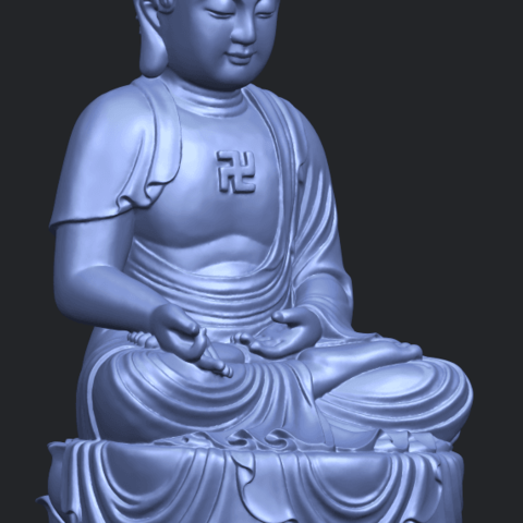 01_TDA0174_Gautama_Buddha_(ii)__88mmA10.png Download free STL file Gautama Buddha 02 • 3D print template, GeorgesNikkei