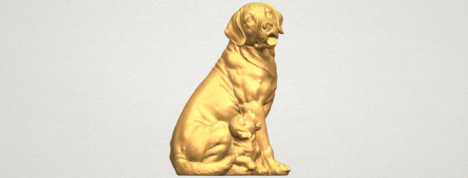 TDA0526 Dog and Puppy A02.png Download free STL file Dog and Puppy 01 • Model to 3D print, GeorgesNikkei