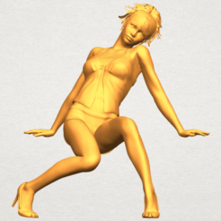 Download free 3D printing templates Naked Girl G04, GeorgesNikkei