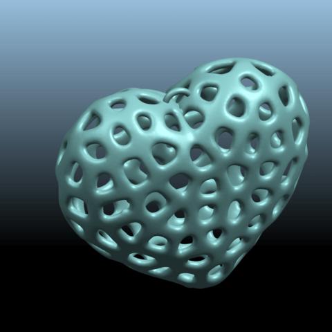 03.png Télécharger fichier STL gratuit Colliers -Voronoi Coeur de Voronoi • Plan pour imprimante 3D, GeorgesNikkei