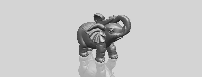 09_Elephant_02_150mmA00-1.png Télécharger fichier STL gratuit Eléphant 02 • Plan imprimable en 3D, GeorgesNikkei