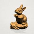 Chinese Horoscope04-A06.png Télécharger fichier STL gratuit Horoscope Chinois 04 Lapin • Design à imprimer en 3D, GeorgesNikkei