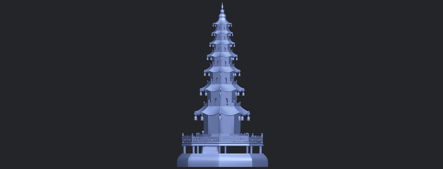 03_TDA0623_Chiness_pagodaB06.png Download free STL file Chiness pagoda • Design to 3D print, GeorgesNikkei