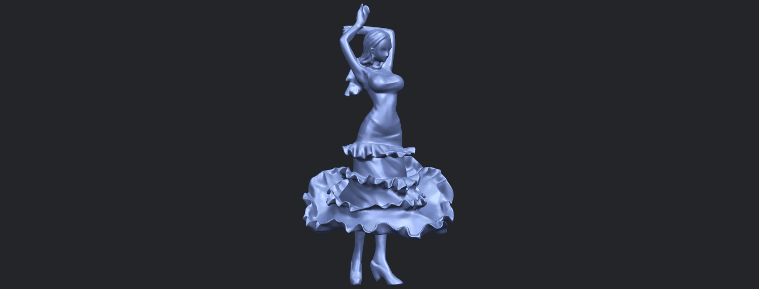 23_Girl_with_Dress_80mm-B03.png Download free STL file Girl with Dress • Object to 3D print, GeorgesNikkei
