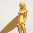 TDA0590 Girl surfing board 02 A10.png Download free STL file Girl surfing board 02 • 3D printable object, GeorgesNikkei