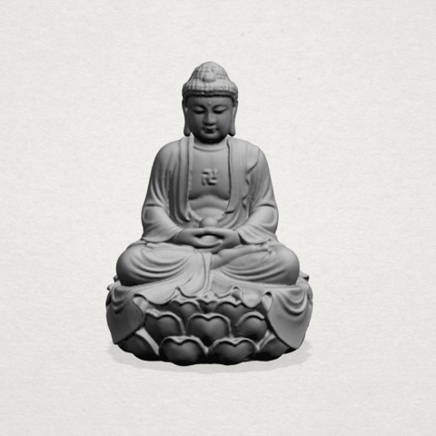 Gautama Buddha -A01.png Télécharger fichier STL gratuit Gautama Bouddha 01 • Plan pour impression 3D, GeorgesNikkei