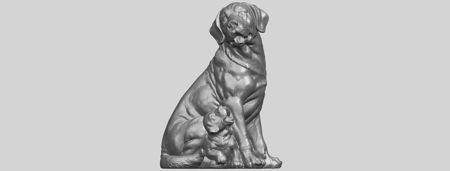 02_TDA0526_Dog_and_PuppyA03.png Download free STL file Dog and Puppy 01 • Model to 3D print, GeorgesNikkei