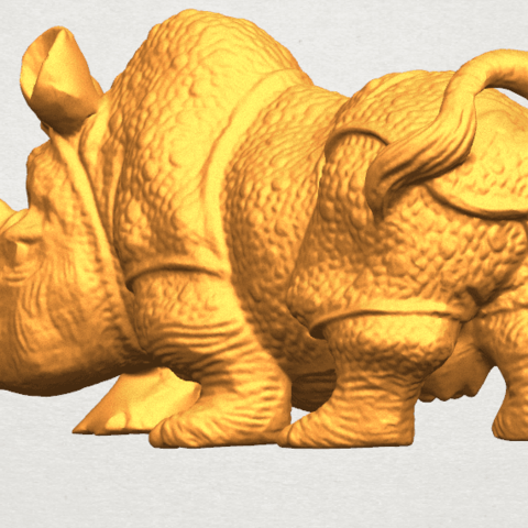 TDA0312 Rhinoceros (iv) Female A02.png Download free STL file  Rhinoceros 05 Female • 3D print object, GeorgesNikkei