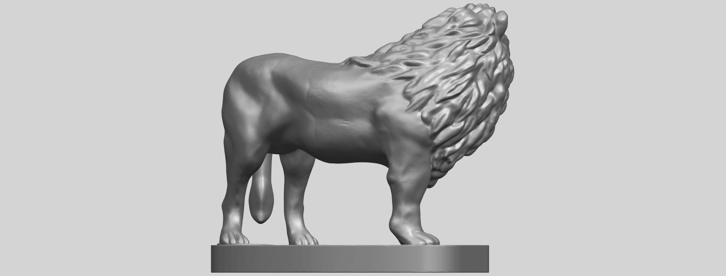 02_TDA0313_Lion_(iii)A07.png Download free STL file Lion 03 • 3D printable template, GeorgesNikkei