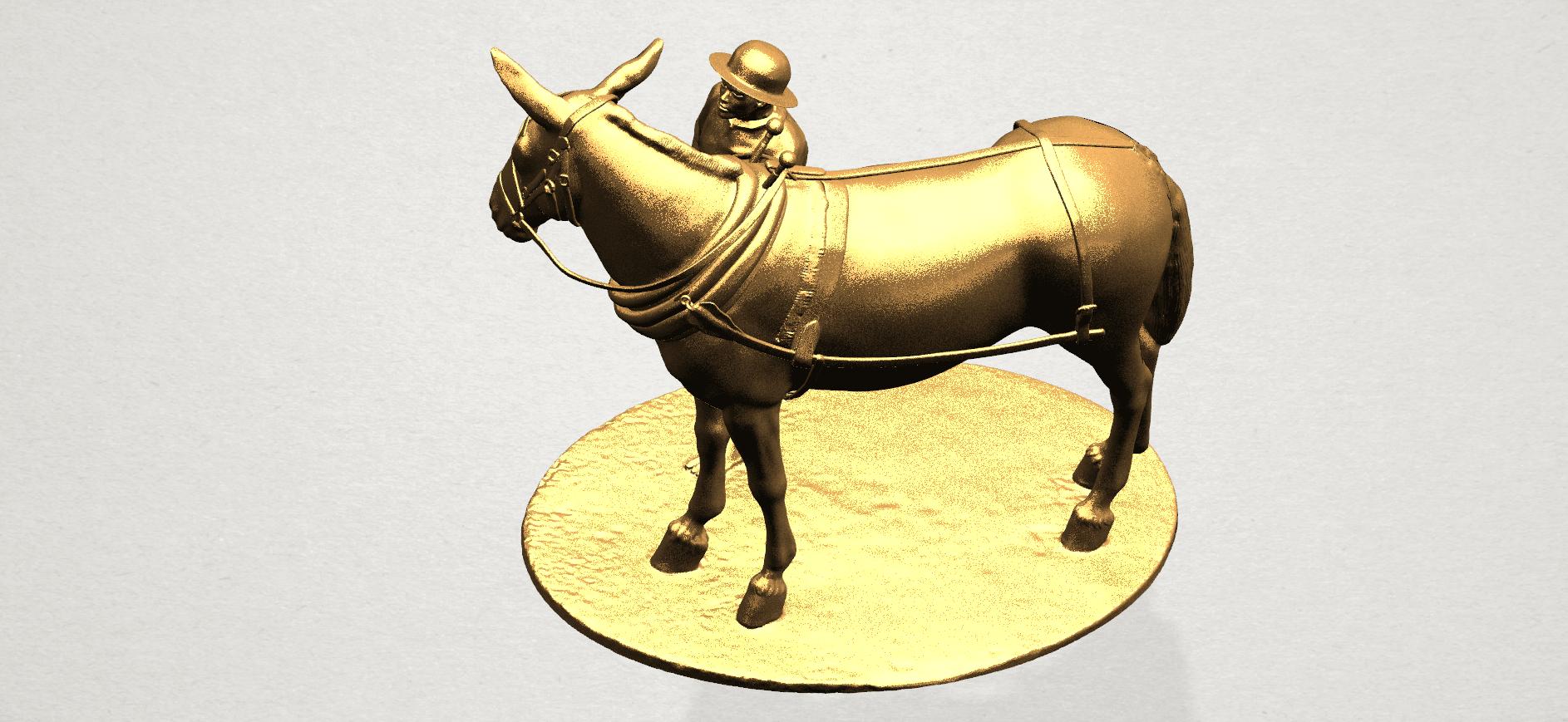 Horse with Man (i) - A12.png Télécharger fichier STL gratuit Cheval avec Man 01 • Objet à imprimer en 3D, GeorgesNikkei