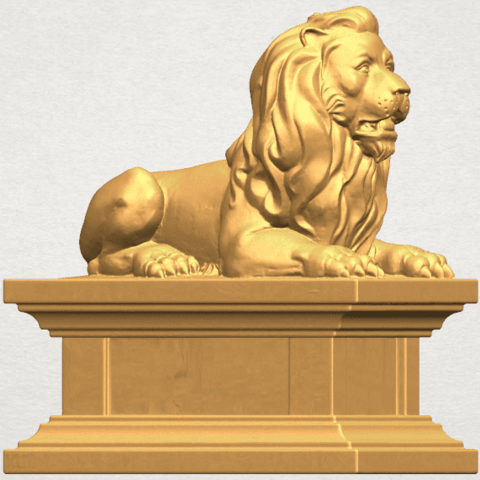 TDA0499 Lion 04 A06.png Download free STL file Lion 04 • Template to 3D print, GeorgesNikkei