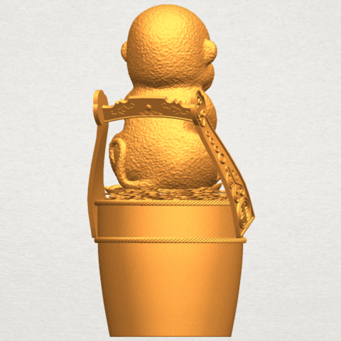 A07.png Download free STL file Monkey A05 • 3D print design, GeorgesNikkei