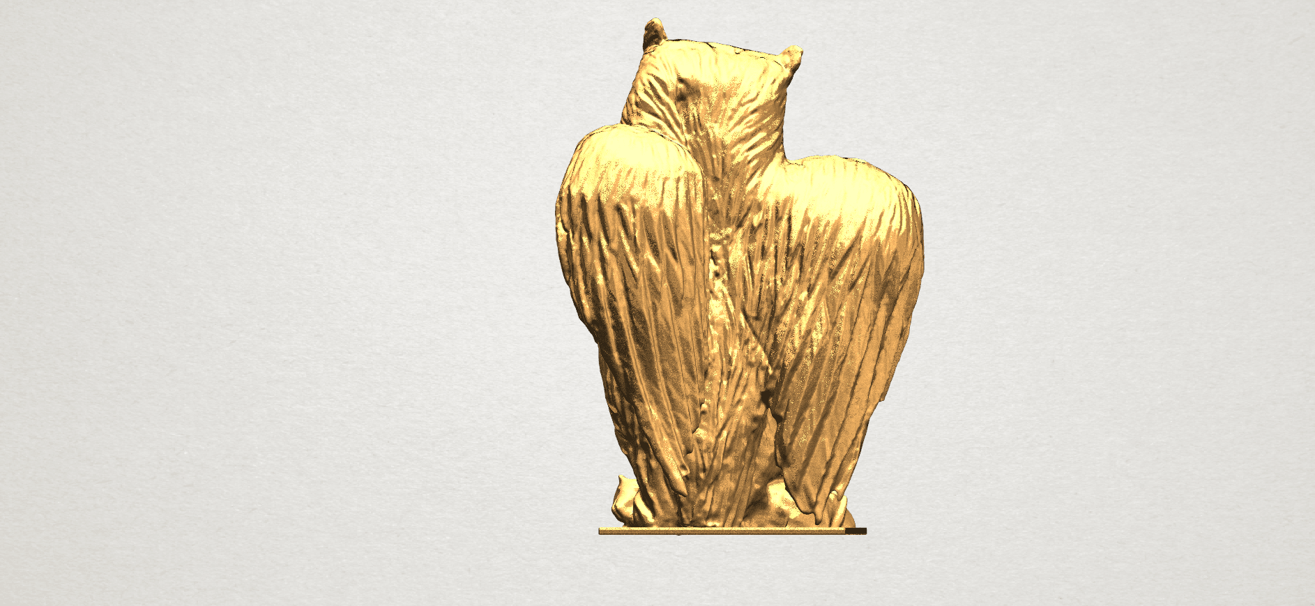 Owl (ii) A04.png Download free STL file Owl 02 • 3D printer object, GeorgesNikkei