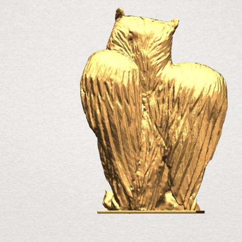 Owl (ii) A04.png Télécharger fichier STL gratuit Hibou 02 • Plan pour imprimante 3D, GeorgesNikkei