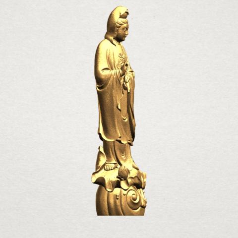 Avalokitesvara Buddha - Standing (i) A07.png Download free STL file Avalokitesvara Bodhisattva - Standing 01 • 3D printable design, GeorgesNikkei
