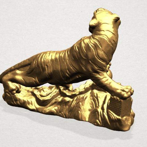 Siberian Tiger - A04.png Télécharger fichier STL gratuit Tigre de Sibérie • Objet imprimable en 3D, GeorgesNikkei