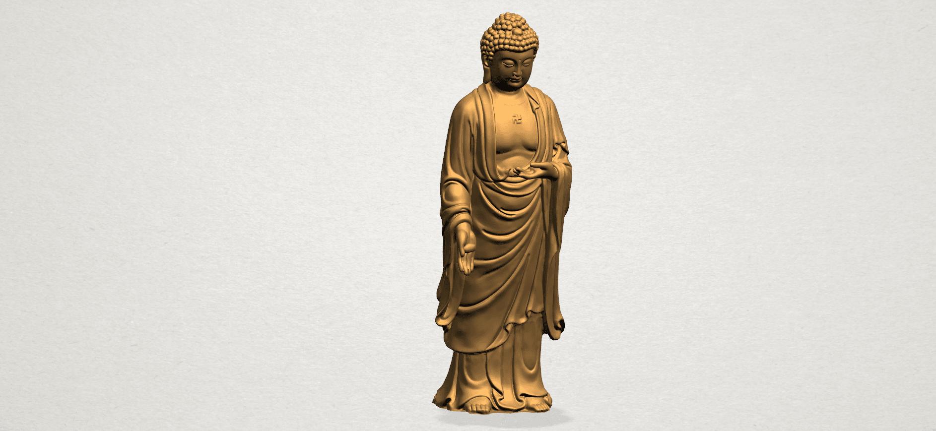 Gautama Buddha (stand)-80mm-A01.png Télécharger fichier STL gratuit Gautama Bouddha - Debout 01 • Plan pour impression 3D, GeorgesNikkei