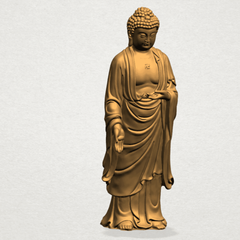 Download free 3D print files  Gautama Buddha - Standing 01, GeorgesNikkei