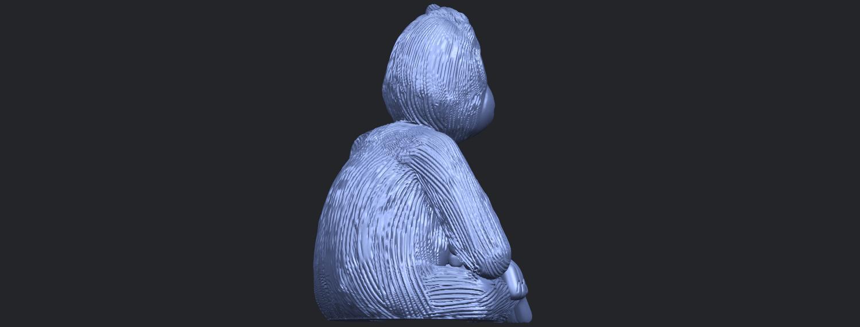 09_TDA0606_ChimpanzeeB08.png Télécharger fichier STL gratuit Chimpanzé • Design imprimable en 3D, GeorgesNikkei