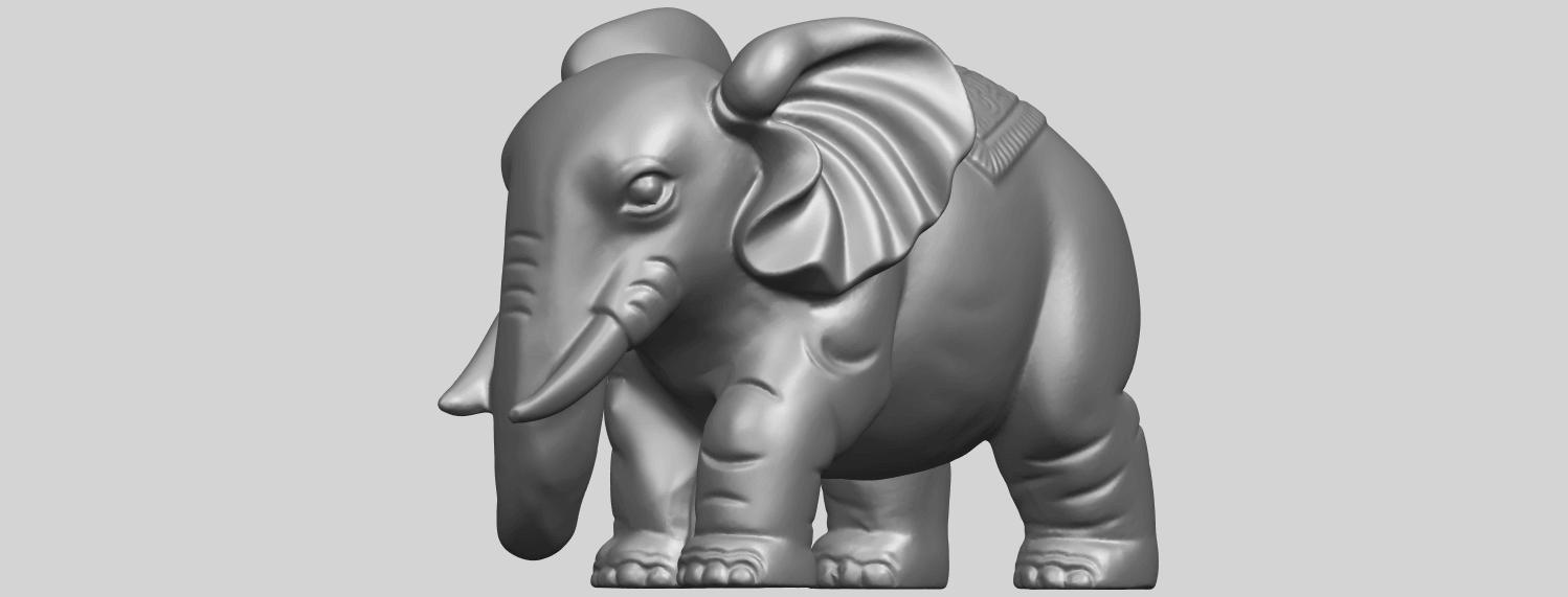 Elephant_03_-122mmA03.png Télécharger fichier STL gratuit Éléphant 03 • Modèle imprimable en 3D, GeorgesNikkei