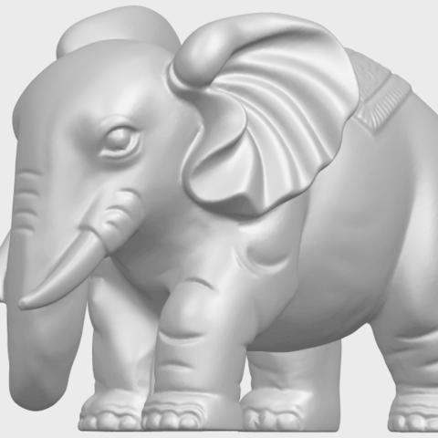 Elephant_03_-122mmA03.png Download free STL file Elephant 03 • 3D printable design, GeorgesNikkei