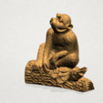 Chinese Horoscope09 - A02.png Télécharger fichier STL gratuit Horoscope Chinois 09 Singe 09 Singe • Objet pour imprimante 3D, GeorgesNikkei