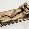 Lying on Bed (i) A06.png Download free STL file Naked Girl - Lying on Bed 01 • 3D printable object, GeorgesNikkei