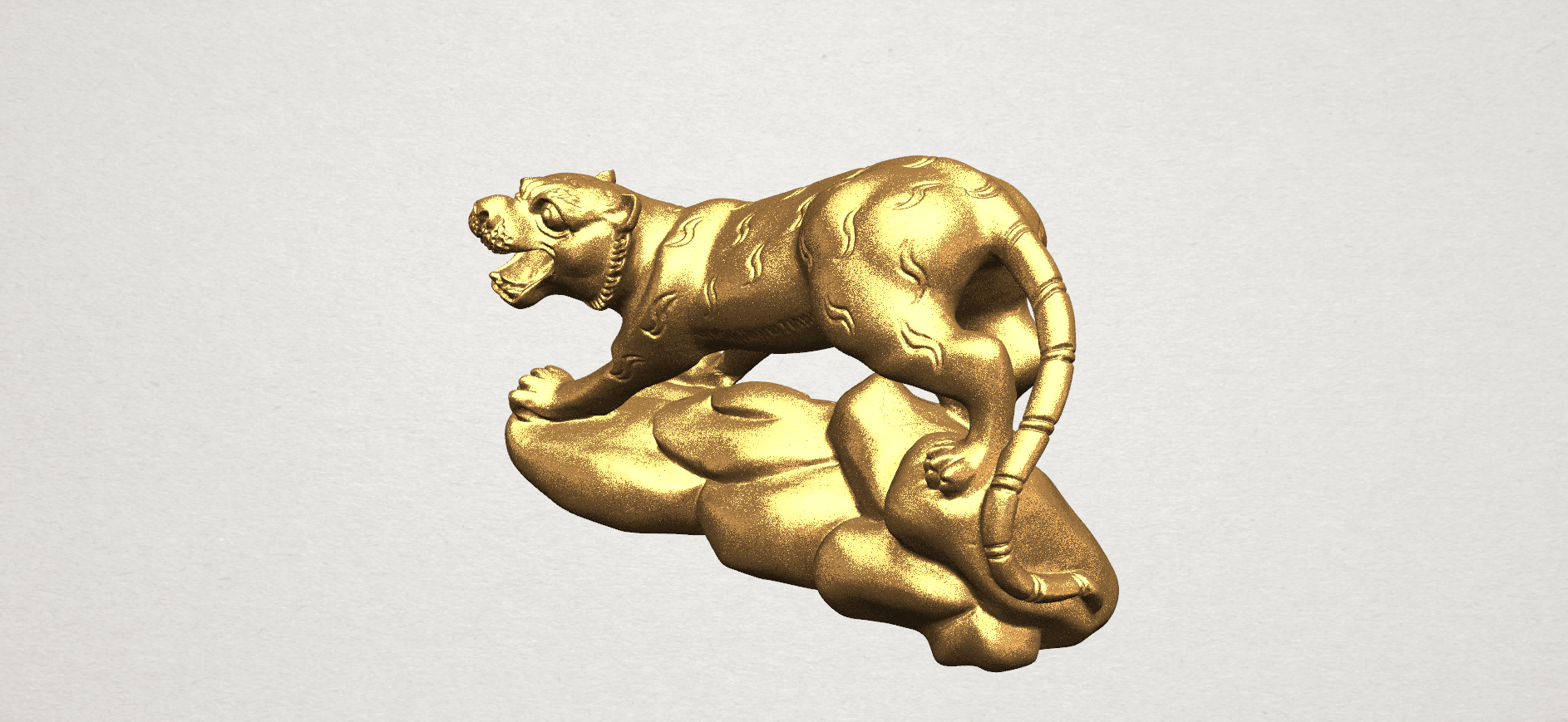 Chinese Horoscope03-01.png Download free STL file Chinese Horoscope 03 Tiger • 3D printer template, GeorgesNikkei