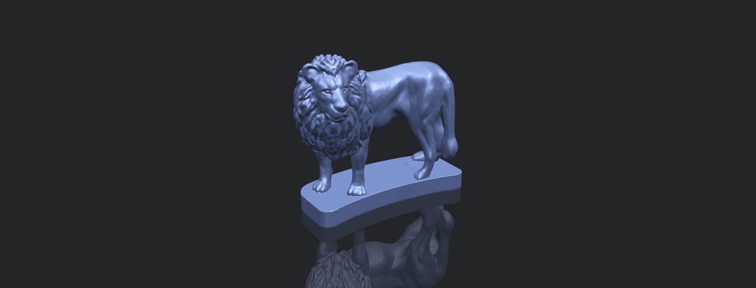 02_TDA0313_Lion_(iii)B00-1.png Download free STL file Lion 03 • 3D printable template, GeorgesNikkei