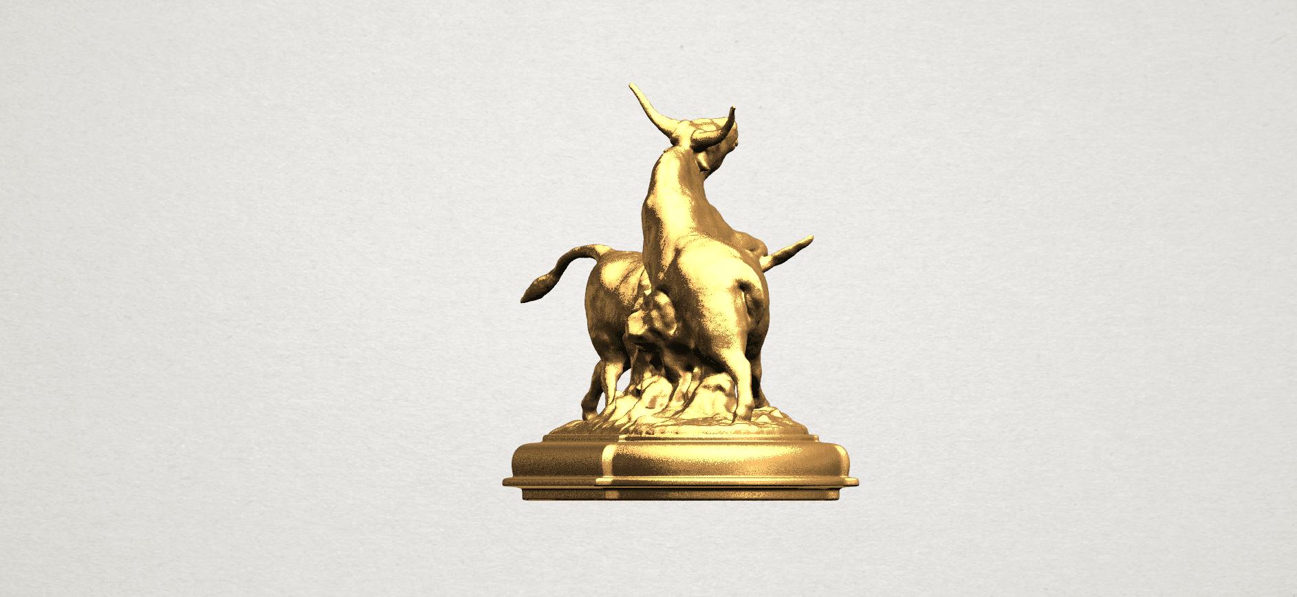 Bull (iii) A06.png Télécharger fichier STL gratuit Taureau 03 • Plan imprimable en 3D, GeorgesNikkei