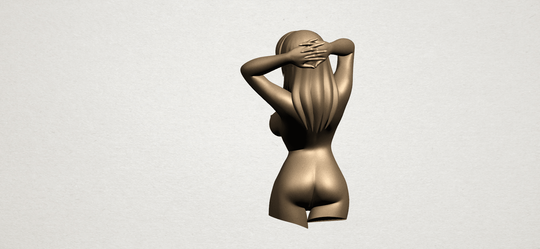 Naked Girl - half body A04.png Download free STL file Naked Girl 01- half body • 3D printing template, GeorgesNikkei
