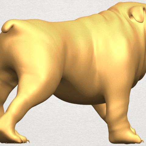 TDA0520 Bull Dog 01 A06.png Télécharger fichier STL gratuit Chien de taureau 01 • Plan pour impression 3D, GeorgesNikkei