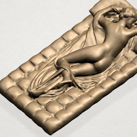 Naked Body Lying on Bed A05.png Download free STL file Naked Girl - Lying on Bed 02 • Object to 3D print, GeorgesNikkei
