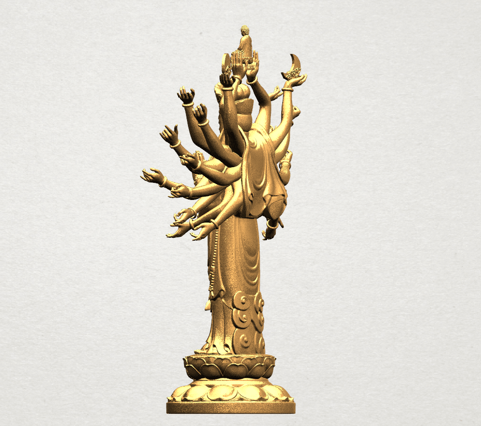 Avalokitesvara Bodhisattva (multi hand) 80mm -B04.png Download free STL file Avalokitesvara Bodhisattva (multi hand) (i) • 3D print object, GeorgesNikkei