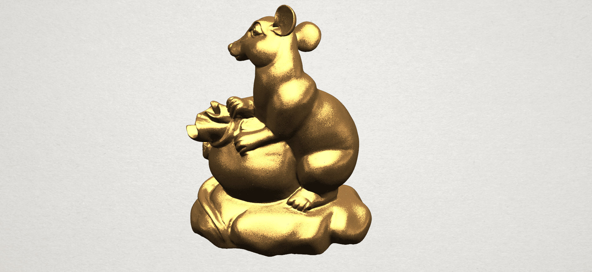 Chinese Horoscope01-02.png Download free STL file Chinese Horoscope 01 Rat • 3D printing object, GeorgesNikkei