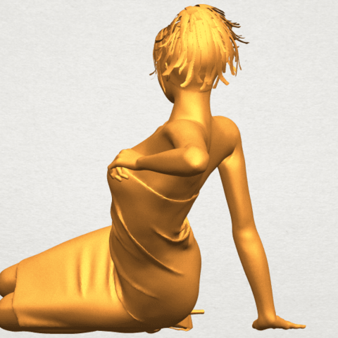 A05.png Download free STL file Naked Girl F05 • 3D printer object, GeorgesNikkei