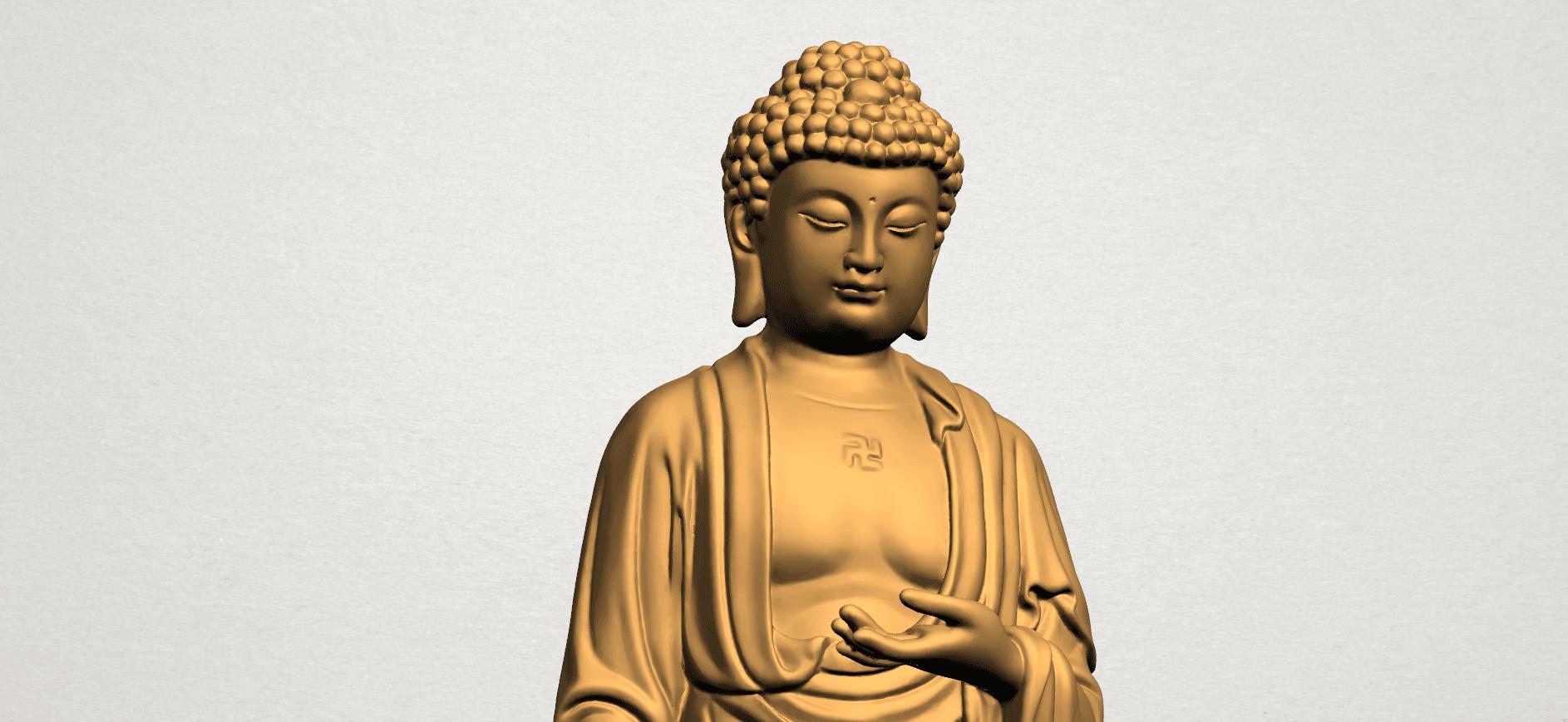 Gautama Buddha (stand)-80mm-A02.png Télécharger fichier STL gratuit Gautama Bouddha - Debout 01 • Plan pour impression 3D, GeorgesNikkei