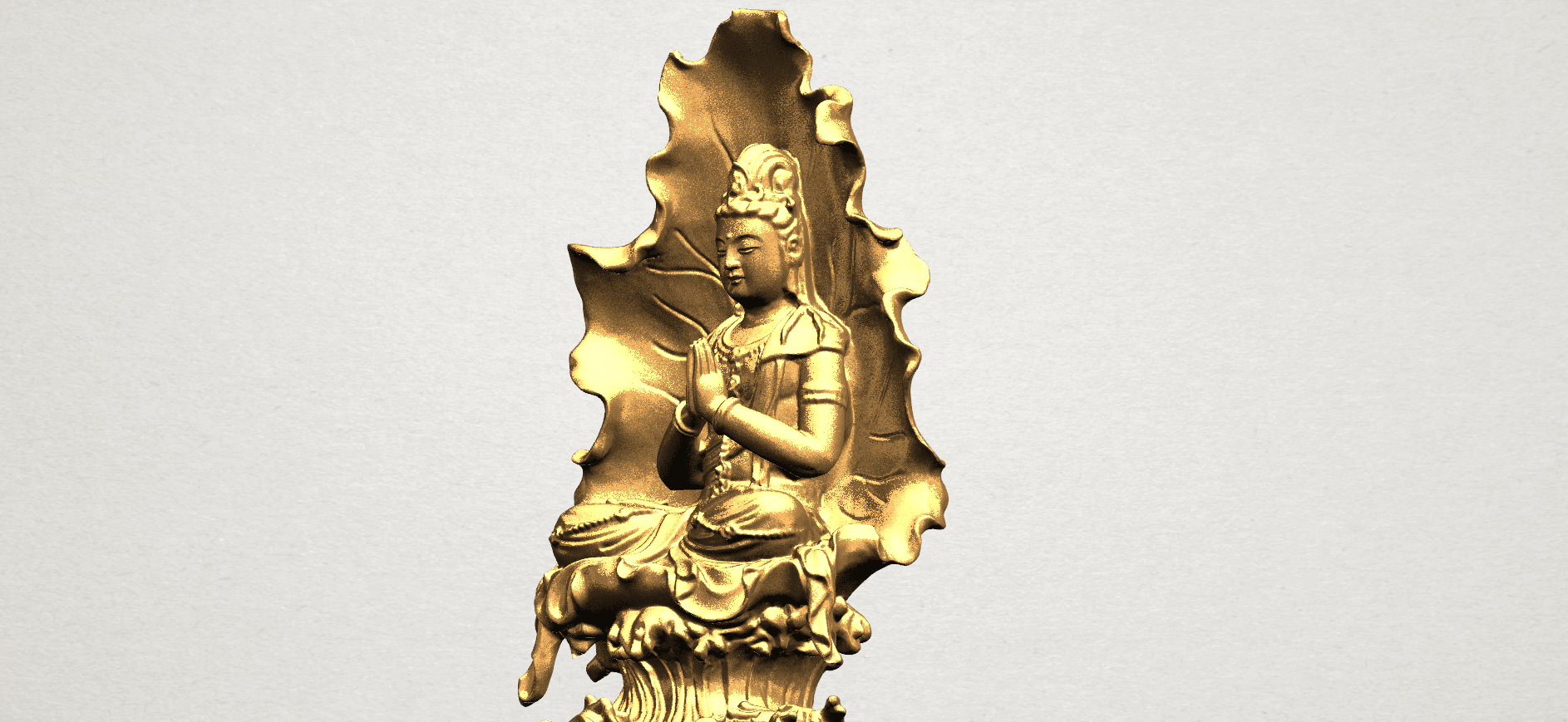 Avalokitesvara Buddha (with Lotus Leave) (ii) A12.png Download free STL file Avalokitesvara Buddha (with Lotus Leave) 02 • Model to 3D print, GeorgesNikkei