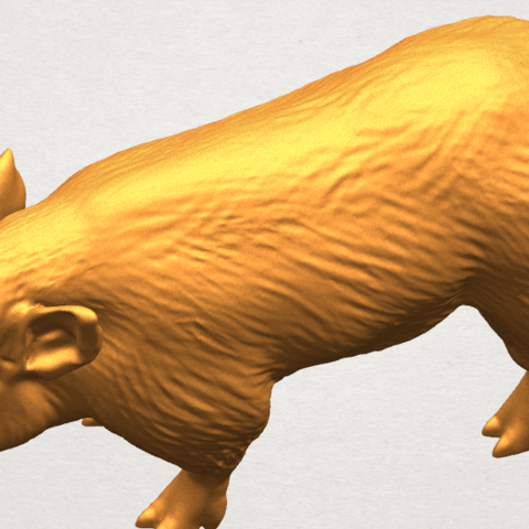 TDA0320 Pig (ii) A08.png Download free STL file Pig 02 • 3D printable object, GeorgesNikkei