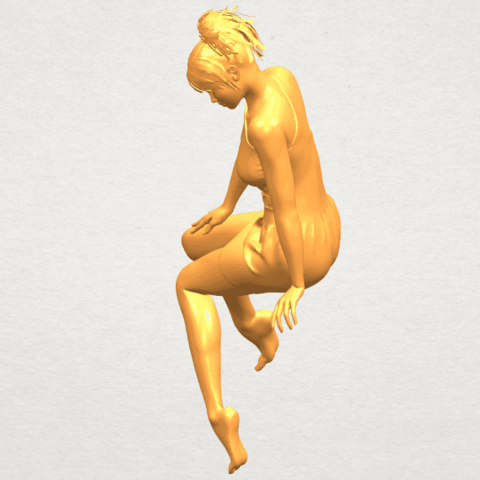 A03.png Download free STL file Naked Girl E05 • 3D print object, GeorgesNikkei