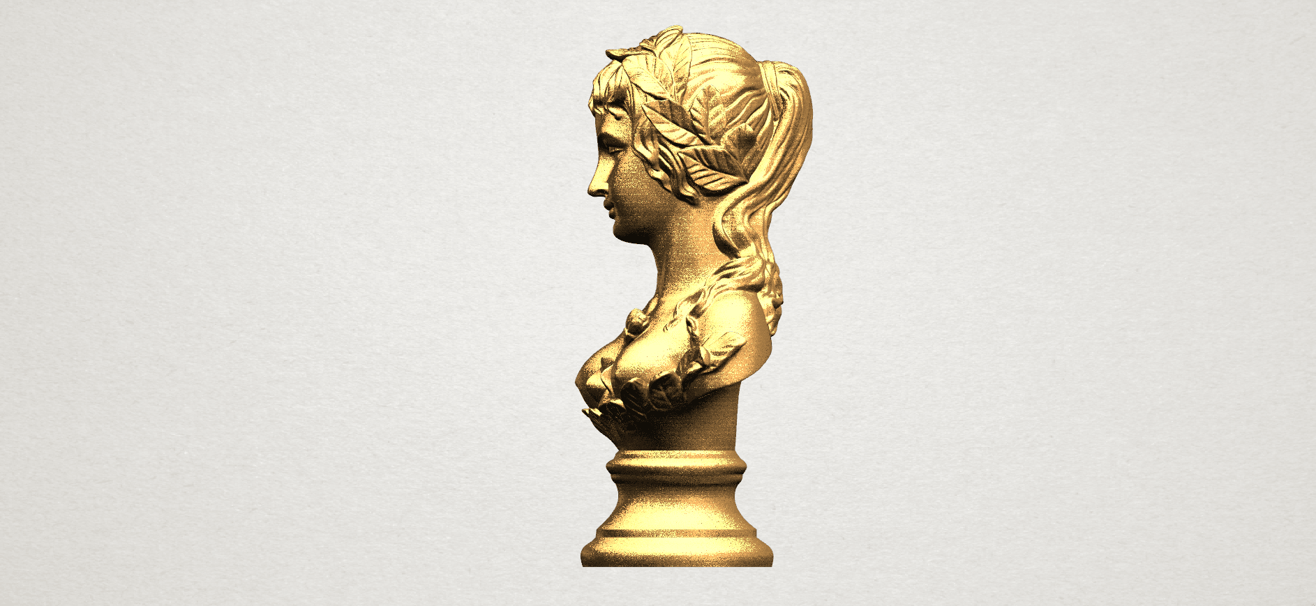 Bust of Venus 80mm - A03.png Download free STL file Bust of Venus • 3D print model, GeorgesNikkei