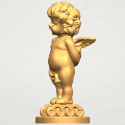 TDA0478 Angel Baby 01 A02.png Download free STL file Angel Baby 01 • 3D print template, GeorgesNikkei