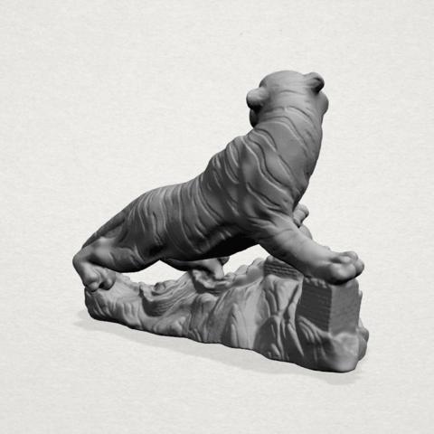 Siberian Tiger - C03.png Télécharger fichier STL gratuit Tigre de Sibérie • Objet imprimable en 3D, GeorgesNikkei
