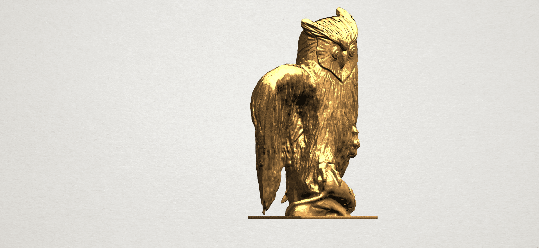 Owl (ii) A06.png Download free STL file Owl 02 • 3D printer object, GeorgesNikkei