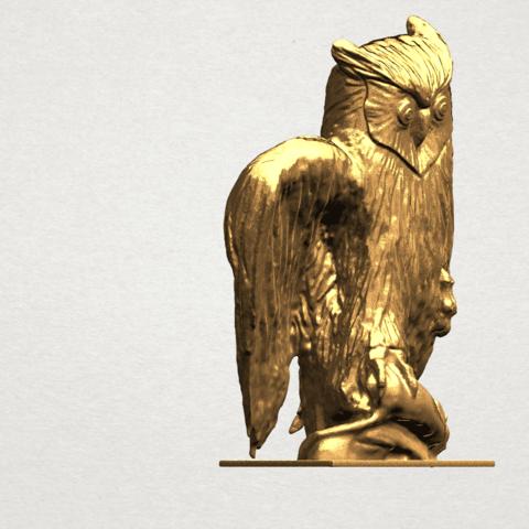 Owl (ii) A06.png Télécharger fichier STL gratuit Hibou 02 • Plan pour imprimante 3D, GeorgesNikkei