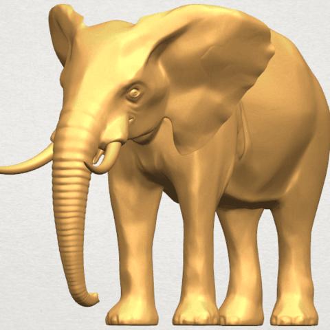 TDA0592 Elephant 07 A08.png Télécharger fichier STL gratuit Eléphant 07 • Objet à imprimer en 3D, GeorgesNikkei