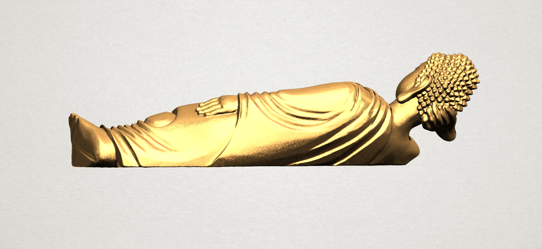 Sleeping Buddha (ii) A05.png Download free STL file Sleeping Buddha 02 • Design to 3D print, GeorgesNikkei
