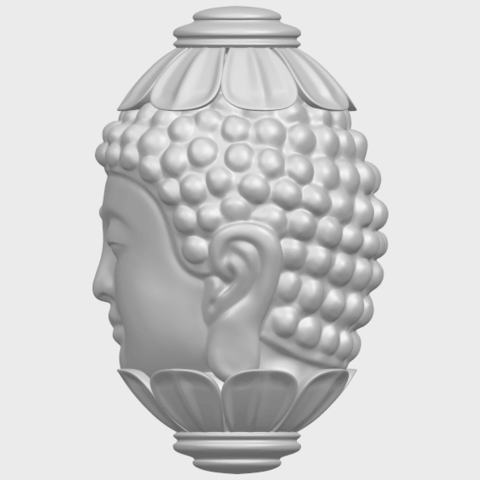 11_Buddha_Head_Sculpture_80mmA04.png Download free STL file Buddha - Head Sculpture • 3D printing model, GeorgesNikkei