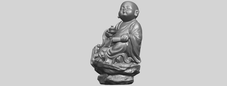 17_TDA0558_Little_Monk_Drink_TeaA03.png Télécharger fichier STL gratuit Boire du thé Little Monk Drink Tea • Design à imprimer en 3D, GeorgesNikkei